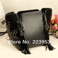 2014New Arrival rivet bag skull bag women handbag 2 COLORS  082
