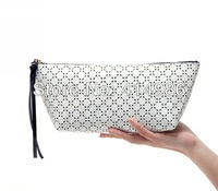 HOT Free shipping new arrival travel wash white PU storage bags cosmetic makeup bag for women HZB090