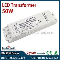 DC12V 4.17A 50W Square Power Supply transformer 220V 12V DC adaptor transformer switch for LED Strip RGB 5050 3528 Lights