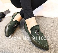 Free shipping/The new 2014 European and American crow heart rivet restoring ancient ways is han edition women flat shoes