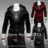 Free shipping 2014 Fashion Sports Hooded Jacket,Casual Winter Jackets Assassins Creed Men's Clothing,Hoodies Sweatshirts