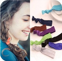 Min Order $10(Mix Order) Free Shipping,New Fabric Multi colors Knot Elastic Hair Bands Headwear Hair tie