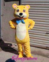 yellow bear adult size   hot sale, free ship , Mascot Costume, cartoon , Halloween cosplay Dress