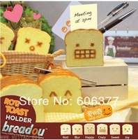 12pcs/lot  6 styles  Breadou Roti Toast squishy phone holder / card holder /pen holder with package free shipping