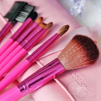 Pink piece set who liked him cosmetic brush set makeup tools blush brush foundation brush eye shadow brush