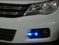 Free shipping auto flash lamp foglight car decoration lamp color warning light fog lamp Solar lamp
