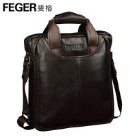 Feger brand geuine leather men  messenger  bags 2014 male commercal messenger bags cross-body cowhide men messenger bags