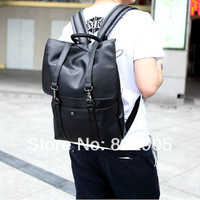 Preppy style fashion backpack laptop bag school bag Korean trend high quality PU leather