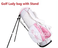 Free Shipping Lady Golf bag with Double Stand High quality Golf bag Nylon Golf bag with Stand Golf Rack bag