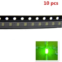 10pcs 1206 SMD SMT Super Bright  Green LED Lamp Light RoHS Good Quality