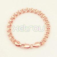 New Arrival Exquiste Rose Gold Filled Breacelet for Women Men 7.5mm 19.9cm Elegant 18K Rose Gold Filled Bracelet RB64