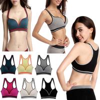 (45)Sexy Seamless sports Yoga Bra Push Up Bra bikini top womens Swimsuit QNY141