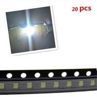 10pcs 1206 SMD SMT Super Bright White LED Lamp Light RoHS Good Quality