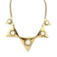 New Arrival 1 Piece Fashion European Statement individuality Vintage Bronze Plated Triangle Choker Necklaces, Item: NK102444
