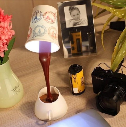 100pcs/lot Creative Coffee Cup led Night light bedside led light best idea for gift(China (Mainland))