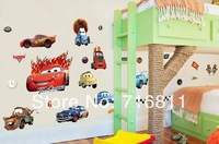 2015 new free shipping Transparent Boy's Bedroom Pixar Cars Wall Stickers Kids Nursery Room Art Decal Decor Sticker