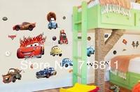 2015 new free shipping Transparent Boy's Bedroom Pixar Cars Wall Stickers Kids Nursery Room Art Decal Decor Sticker