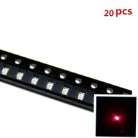 20pcs 0603 SMD SMT Super Bright Red LED Lamp Light RoHS Good Quality