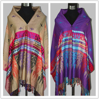 Factory direct 2014Spring New Ethnic jacquard shawl scarves shawls Nepal clouds Rainbow Multi Colors
