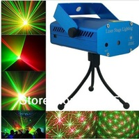 NEW 100MW Mini Red-Green Moving Party Stage Laser Light with tripod laser DJ party disco light free shipping