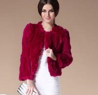 High Qulaity 100% Genuine Rex Rabbit Fur Short Women Coats Natural Outwear Female Furs Princess jacket Warm Fur Coat For Women