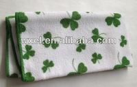 Factory promotion!!!  Lucky grass printed hand towel