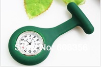 high quality New design silica gel nurse watches Professional doctor Medical wrist watch Mixed color 20pcs/lot ,HY016