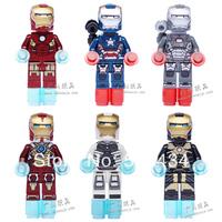 Without Original Box !Iron Man Series Figures 6pcs/lot Building Block Sets Minifigures Educational DIY Bricks Toys for children