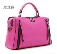 2014women leather handbags, leather promotional serpentine Women's Messenger Bags