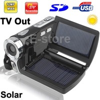 DV008+ 2.8 inch 5.0 Mega pixels Solar Energy 8X Zoom DV Digital Video Camera Camcorder Max pixels 12 Mega pixels (Interpolation)