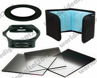 58mm ring Adapter  + Complete Square Filter Kit Graduated ND2  4 8  Set  for Cokin P  Free shipping + tracking number