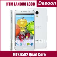 In Stock Original Feiteng HTM LANDVO L800 MTK6582 Quad Core Android 4.2 Phone 5.0 inch 512MB RAM 4GB ROM 3G Black White/ Laura
