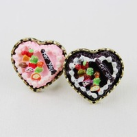 6pcs/lot  fashion women costume jewelry accessories vintage lovely cake love  adjustable ring