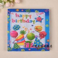 Multicolour tissue multicolour table napkin paper multicolour washouts paper print tissue birthday paper towel 146