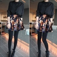 New  2014 Fashion Retro print    women  skirt   Ball Gown  high  Waist  lady mini  skirt 8051