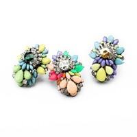 3pcs/lot fashion women jewelry accessories flower shourouk  statement adjustable ring