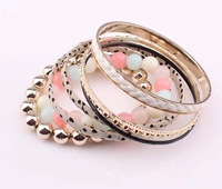 2014 New fashion boutique multi level multi-color bead bracelet cxt9095