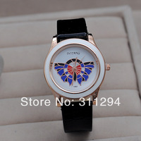 Jw085 Vogue Women Sports Watch Butterfly Watch Luxury Lichee Pattern Strap Hour, Wholesale Watch Gift