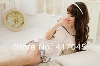 2014 new Lace white transparent bathrobe for Women sexy V-neck bathrobe female dressing nightgown with panties 2pcs freeshipping