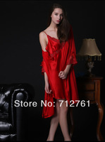 Quality Fiber Queen Mulbbery Silk Pyjamas and Slumber Wear, soft comfortable elegant  fashion silk night robe for woman