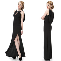 09904 Ever Pretty 2014 New Arrival Unique Black Rhinestones Slitted Women Long Party Dresses Formal Evening Gowns