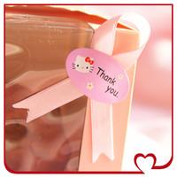 160pcs/lot Packaging pink hello kitty sealing paste sticker Baking decoration free shipping
