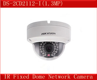 Free shipping DS-2CD2112-I,Hikvision IP Camera,1.3MP Outdoor Network Dome Camera,HD 720P,30M IR,IP66,3D DNR/DWDR/BLC,CCTV Camera