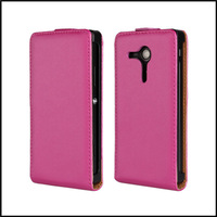 Good Quality Vertical Flip Leather Case For Sony Xperia SP M35h Black,Red   + Free Shipping