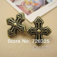 2014 NEW ARRIVAL Fashion  vintage personality sculpture cross stud earring earrings