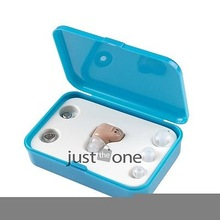 Mini Tuneable Sound Amplifier in the Ear Hearing Aid AIDS Assistance Fleshcolor(China (Mainland))