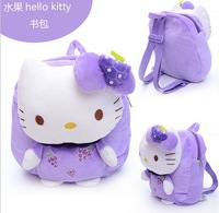 backpacks new 2014 children hello kitty plush backpacks boys/girls school backpacks bag free shipping