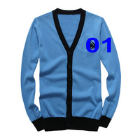 Free shipping 2014Polo Sweater V-neck sweater cardigan sweater outside the ride fashion men's long-sleeved cotton sweater