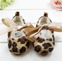 2014 leopard first walkers wholesale kids shoes  newborn baby footwear baby princess shoes