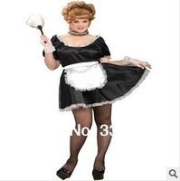 Free Shipping 0944 Passion pure sexy lace lingerie suit the maid servant temptation game uniforms wholesale